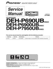 Buy Pioneer DEH-P7950UB-9 Service Manual by download Mauritron #233702