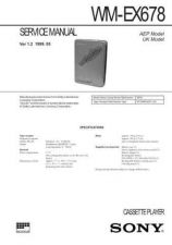 Buy Sony WM-EX678 Service Manual. by download Mauritron #245686