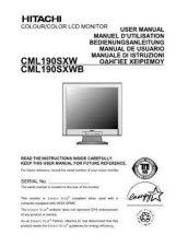 Buy Hitachi CML190SXW IT Manual by download Mauritron #224467