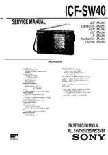 Buy Sony ICF-SW40 Service Manual. by download Mauritron #241651