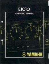 Buy Yamaha E1010E Operating Guide by download Mauritron #247748