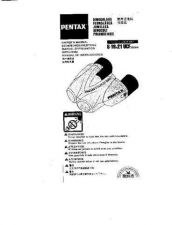 Buy PENTAX 816X21 UCF ZOOM CAMERA INSTRUCTIONS by download #118991