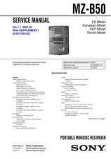 Buy Sony MZ-B50 service manual Technical Manual. by download Mauritron #243068