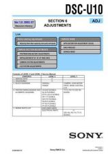 Buy Sony DSC-U20-3 Service Manual by download Mauritron #240341