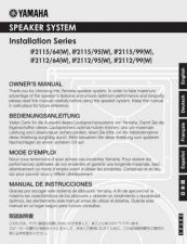 Buy Yamaha IF2115 EN OM D0 Operating Guide by download Mauritron #248238