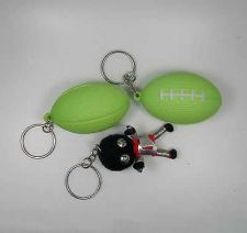 Buy 3 PCS. THAI KEY CHAINS OF TWO ELASTIC GREEN BASEBALL AND A ROBOT DOLL Y
