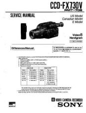 Buy Sony CCD-FX730 Manual by download Mauritron #228973