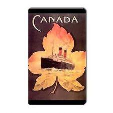 Buy Canada Cruise Ship Maple Leaf Retro Travel Art Vinyl Magnet