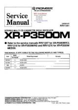 Buy PIONEER XRP3500M RRV1561 Technical Information by download #119420