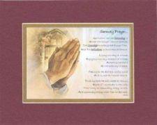Buy Poem for Inspiration - Serenity Prayer 11x14 Burgundy Double-Bevelded Matting