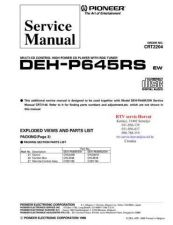 Buy PIONEER DEHP645RS CRT2204 Technical Information by download #119230