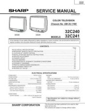 Buy Sharp 32C240-241 Service Manual by download Mauritron #207625