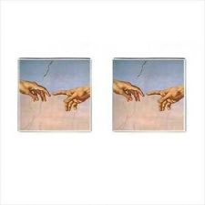 Buy The Creation Of Adam Michelangelo Square Cufflinks