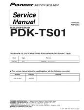 Buy Pioneer PDK-TS01 Service Manual by download Mauritron #234701