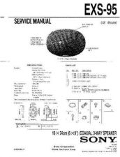 Buy Sony EXS-95 Service Manual by download Mauritron #240676