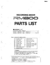 Buy JVC RM800-PARTS_LIST Service Manual by download Mauritron #255250