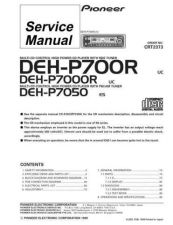 Buy Pioneer DEH-P7000R-8 Technical Manual by download Mauritron #232483