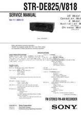 Buy Sony STR-DE898-DE998 Service Manual. by download Mauritron #245130