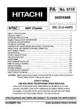 Buy Hitachi 36SDX88B Service Manual by download Mauritron #207225