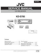 Buy JVC KD-S785 Service Manual Schematic Circuit. by download Mauritron #271553