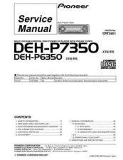 Buy Pioneer DEH-P7350-2 Technical Manual by download Mauritron #232520