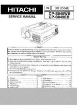 Buy Hitachi CP-RS57 Service Manual by download Mauritron #260871