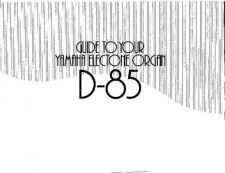 Buy Yamaha D85E Operating Guide by download Mauritron #247351