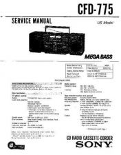 Buy Sony CFD-7-8 Service Manual by download Mauritron #238769