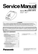 Buy Panasonic MC-V5009-00 Service Manual by download Mauritron #267650
