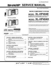 Buy Sharp. XLHP404H-E_SM_GB Manual by download Mauritron #212145