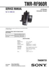 Buy Sony TMR-RF960R Service Manual by download Mauritron #233393