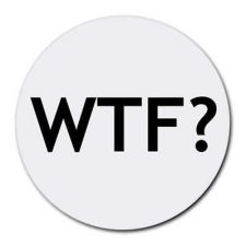 Buy Wtf What The F Round Computer Mousepad Mouse Pad