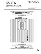 Buy KENWOOD KAC-959 Technical Information by download #118622