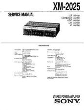 Buy Sony XM-2025 Service Manual. by download Mauritron #245958