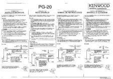 Buy Kenwood PG-20 Operating Guide by download Mauritron #219688