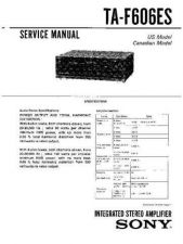 Buy Sony TA-F606ES Service Manual. by download Mauritron #245282