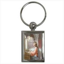 Buy St Cecilia Patron Saint Of Musicians Keychain