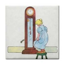 Buy Hickory Dickory Dock Rhyme Vintage Art Ceramic Tile