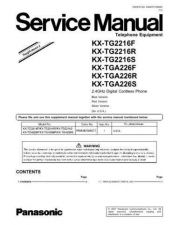 Buy Panasonic tg2216f_sup1 Service Manual by download Mauritron #269096