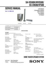 Buy Sony SA-VS500H-WVS500-SS-CN500-VF500 Service Manual by download Mauritron #232