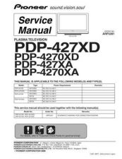 Buy Pioneer PDP-427XDA-YP Service Manual by download Mauritron #234798
