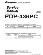 Buy Pioneer PDP-435PU-KUCXC[2] Service Manual by download Mauritron #235030
