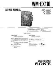 Buy Sony WM-EX110 Service Manual by download Mauritron #233430