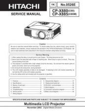 Buy Hitachi CP-X970W FR Manual by download Mauritron #224894