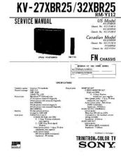 Buy Sony KV-27XBR25 Manual by download Mauritron #229550