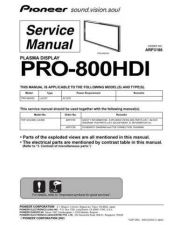 Buy Pioneer PRO-FHD1 Service Manual by download Mauritron #235206