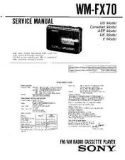 Buy Sony WM-FX673FX877 Service Manual. by download Mauritron #245846