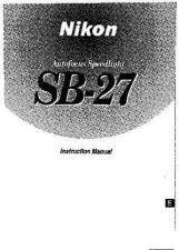 Buy NIKON SB-27 Instruction Manual by download Mauritron #266207