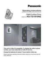 Buy Panasonic KXTG1840 Operating Instruction Book by download Mauritron #236102