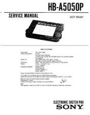 Buy Sony HB-A5050P Service Manual by download Mauritron #240850